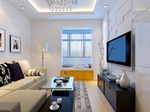 73平米现代简约风格两室一厅室内装修效果图