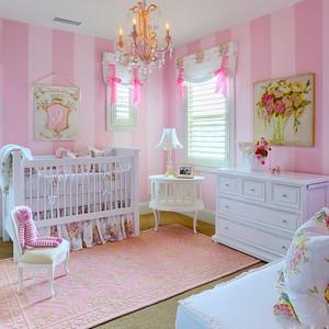 欧式风格温馨时尚婴儿房设计装修效果图大全
