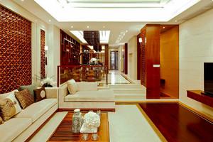 115平米中式风格三室两厅室内装修效果图案例
