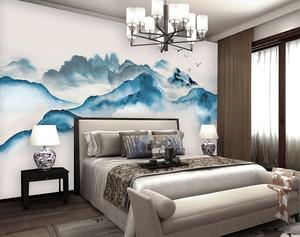 中式风格雅韵古典卧室背景墙装修效果图赏析