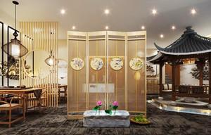 110平米中式风格茶楼设计装修效果图赏析