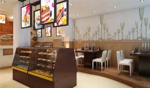 46平米现代风格蛋糕店设计装修效果图