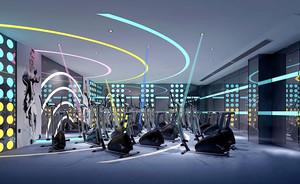 180平米现代简约风格健身房设计装修效果图