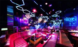 200平米现代风格酒吧卡座沙发设计装修效果图