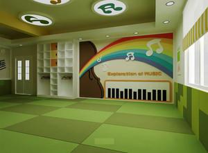 80平米现代简约风格幼儿园教室布置装修效果图