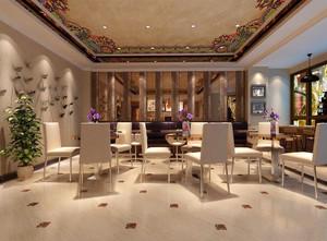时尚混搭风格咖啡厅设计装修效果图赏析