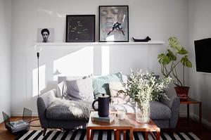 60平米北欧风格一居室小户型室内装修效果图赏析