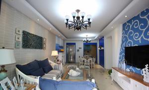 130平米地中海风格三室两厅室内装修效果图赏析