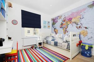 12平米美式风格精致儿童房装修效果图赏析