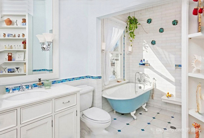 欧式风格清新舒适卫生间装修效果图大全