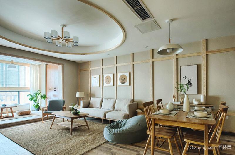 98平米日式风格三室两厅室内装修效果图赏析