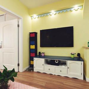 80平米欧式田园风格室内装修效果图案例