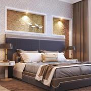 现代风格精致卧室背景墙装修效果图赏析