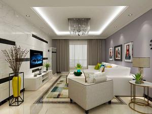 86平米现代简约风格三室两厅室内装修效果图赏析
