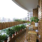 宜家风格轻松自然阳台花园设计装修效果图