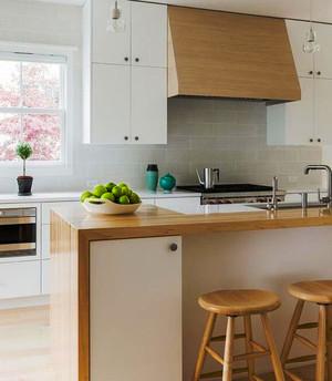 宜家风格简约小厨房吧台设计装修效果图