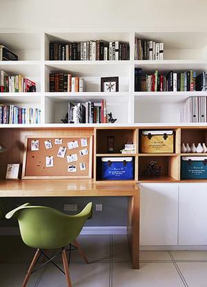 北欧风格简约自然小书房设计装修效果图