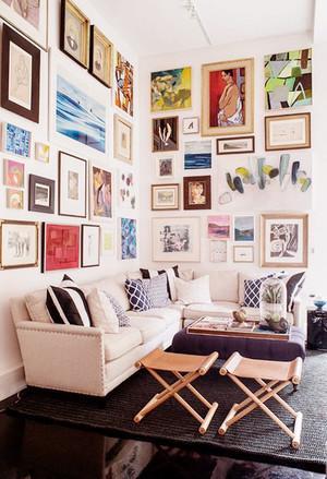 北欧风格时尚客厅照片墙装修效果图赏析