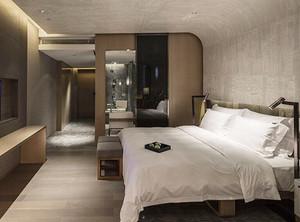 40平米现代风格宾馆客房设计装修效果图赏析