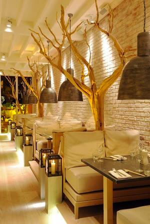 宜家风格文艺舒适咖啡厅设计装修效果图