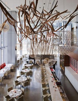 120平米后现代风格创意餐厅设计装修效果图