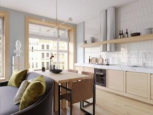 64平米现代风格极简主义单身公寓装修效果图赏析