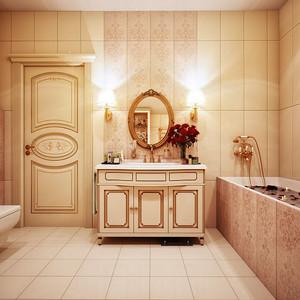 复古风格精致典雅别墅卫生间装修效果图大全
