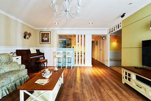 103平米美式田园风格精装三室两厅装修效果图赏析