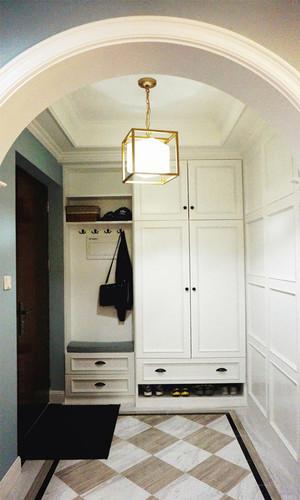 美式风格简约大户型玄关鞋柜设计装修效果图