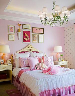 欧式风格粉色温馨浪漫儿童房装修效果图