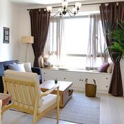 日式风格小户型客厅飘窗设计装修效果图赏析