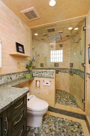 欧式风格大户型室内卫生间淋浴房装修效果图