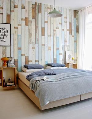 北欧风格简约创意卧室背景墙装修效果图赏析