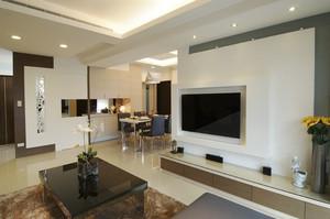 74平米现代简约风格两室一厅室内装修效果图赏析