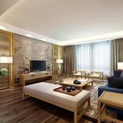 新中式风格客厅电视背景墙装修效果图
