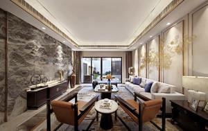 160平米新中式风格古典与现代融合大户型装修效果图