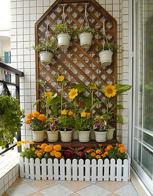 简欧风格创意文艺阳台花园设计装修效果图