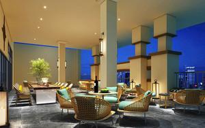 96平米东南亚风格咖啡厅沙发装修效果图
