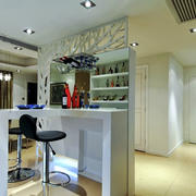现代简约风格精致室内吧台设计装修效果图