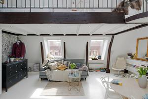 79平米北欧风格自然舒适小复式楼装修效果图