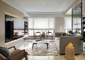 现代风格精致客厅电视背景墙装修效果图