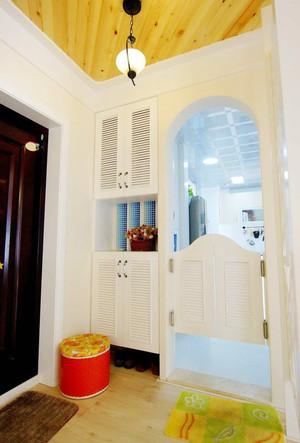 96平米地中海风格温馨三室两厅室内装修效果图案例