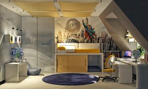 现代风格时尚精装儿童房装修效果图大全