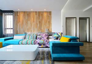 现代风格两居室客厅沙发装修效果图赏析