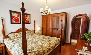 127平米美式田园风格三室两厅装修效果图