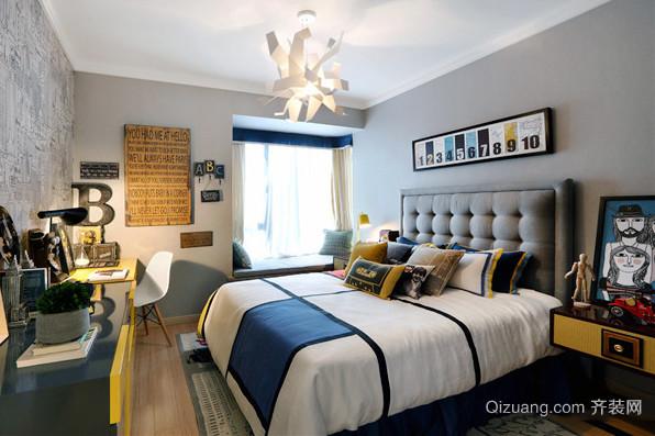 110平米欧式风格简约时尚三室两厅装修效果图