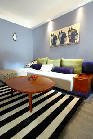 73平米现代风格一居室小户型室内装修效果图