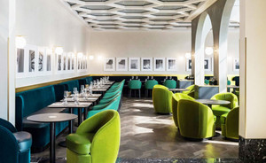 120平米简欧风格西餐厅设计装修效果图