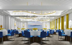 300平米欧式风格五星级酒店装修效果图赏析
