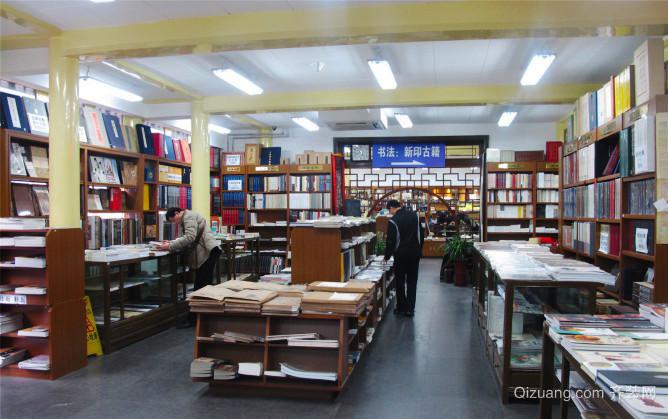 88平米中式风格书店设计装修效果图图片